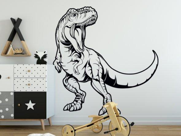 Dekoracja do pokoju młodzieżowego T-rex 2