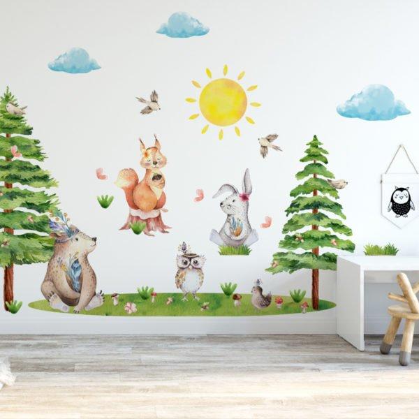 Leśne naklejki na ścianę LK4