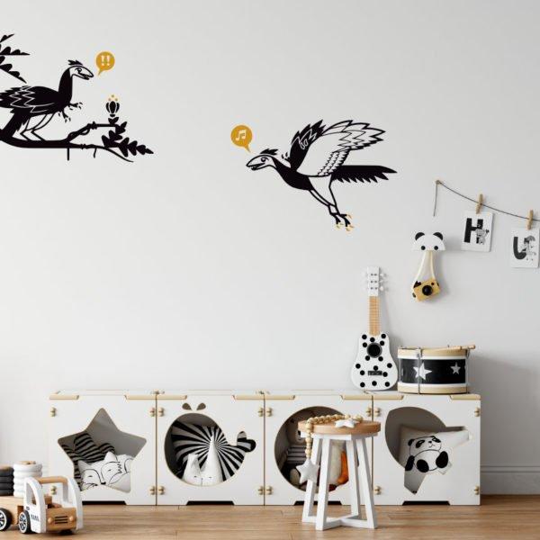 naklejki dinozaury na ścianę