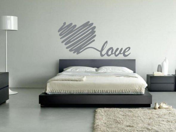 Serce love naklejka na ścianę
