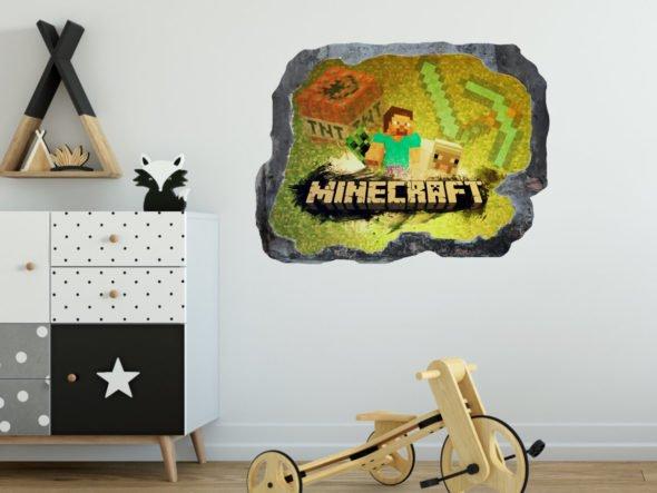 Naklejka w stylu minecraft