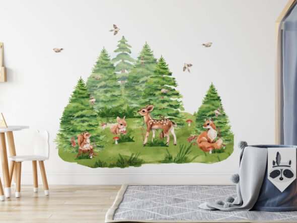 Leśne dekoracje na ścianę