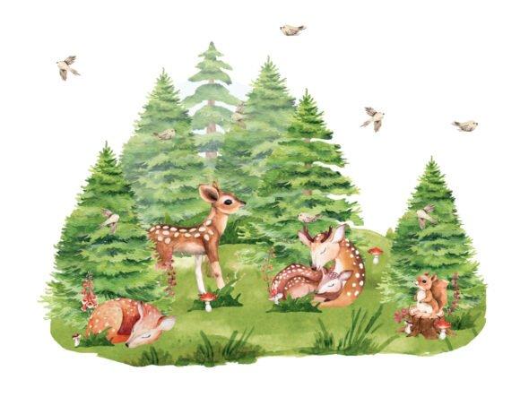 Zestaw leśnych naklejek