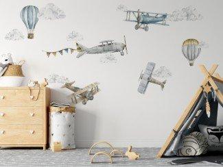 Naklejki samoloty na ścianę