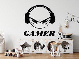 Gamer naklejka młodzieżowa