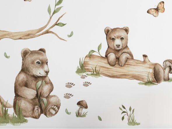 leśne zwierzęta naklejka
