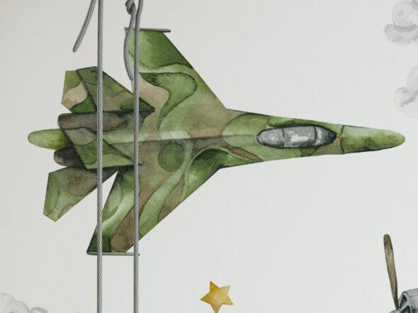 naklejki na ścianę samoloty wojskowe