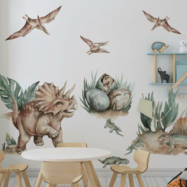 Triceratops naklejki na ścianę