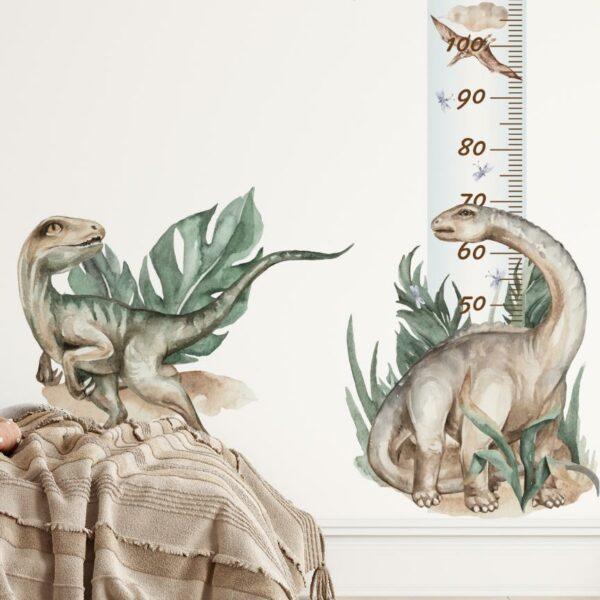 Miarka wzrostu z dinozaurem