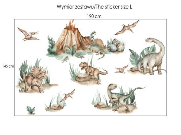 Zestaw naklejek dinozaury