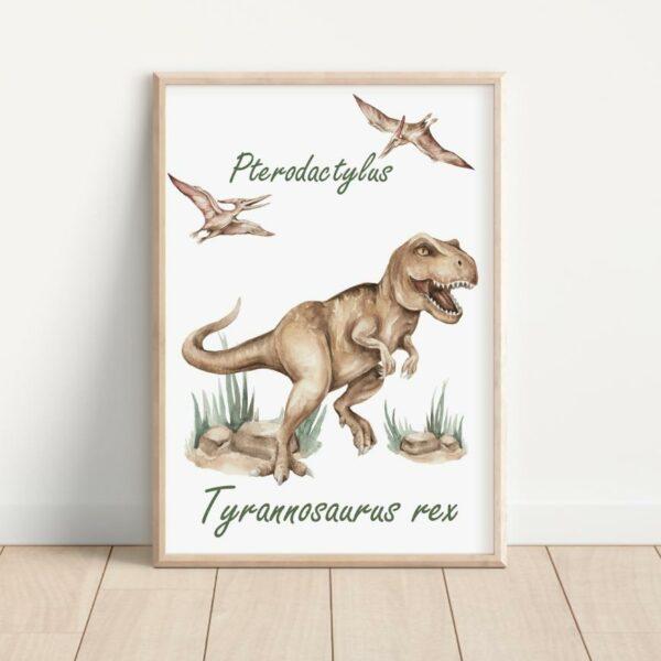 Plakat tyranozaur