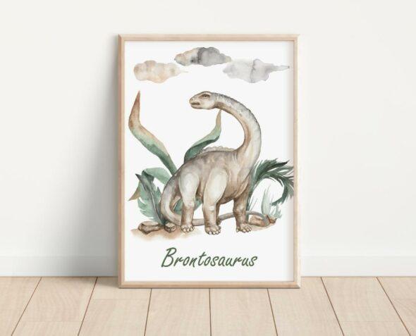 Plakat brontozaur