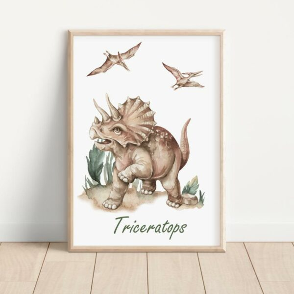 Plakat triceratops