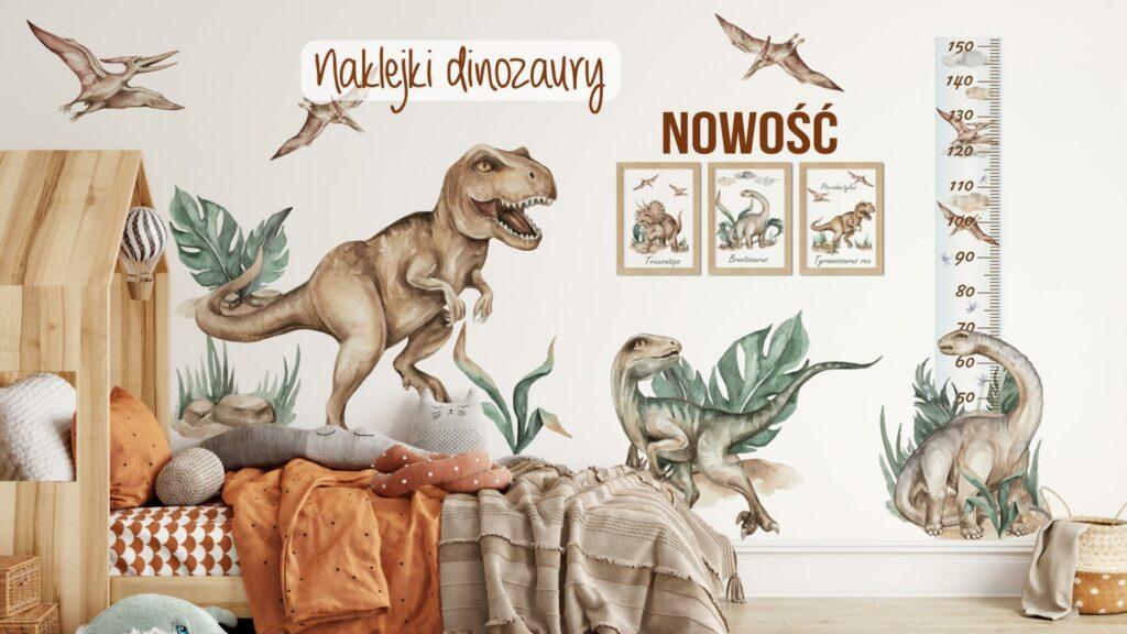 Dinozaury naklejki na ścianę