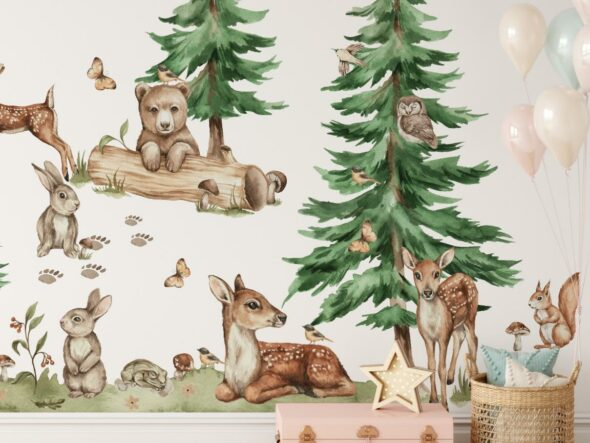 Leśne naklejki na ścianę