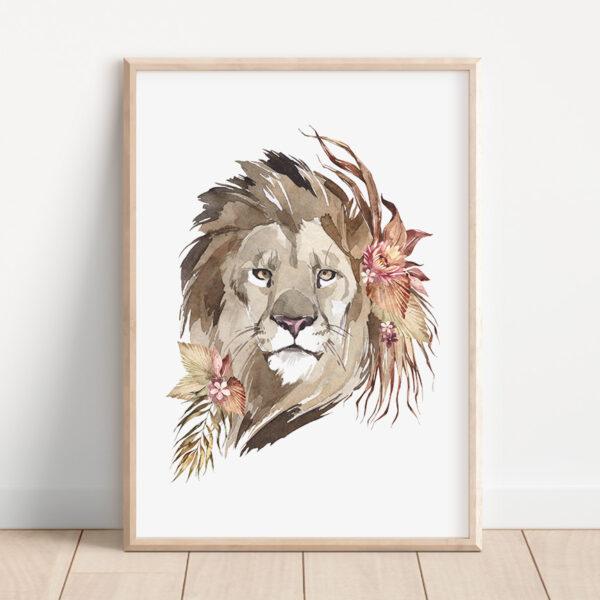 Plakat lew safari
