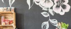 naklejka kwiat na ścianę